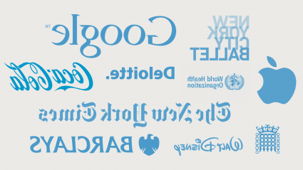 Graphic collection of logos from notable internship companies including Google, Apple, The New York Times and Barclays